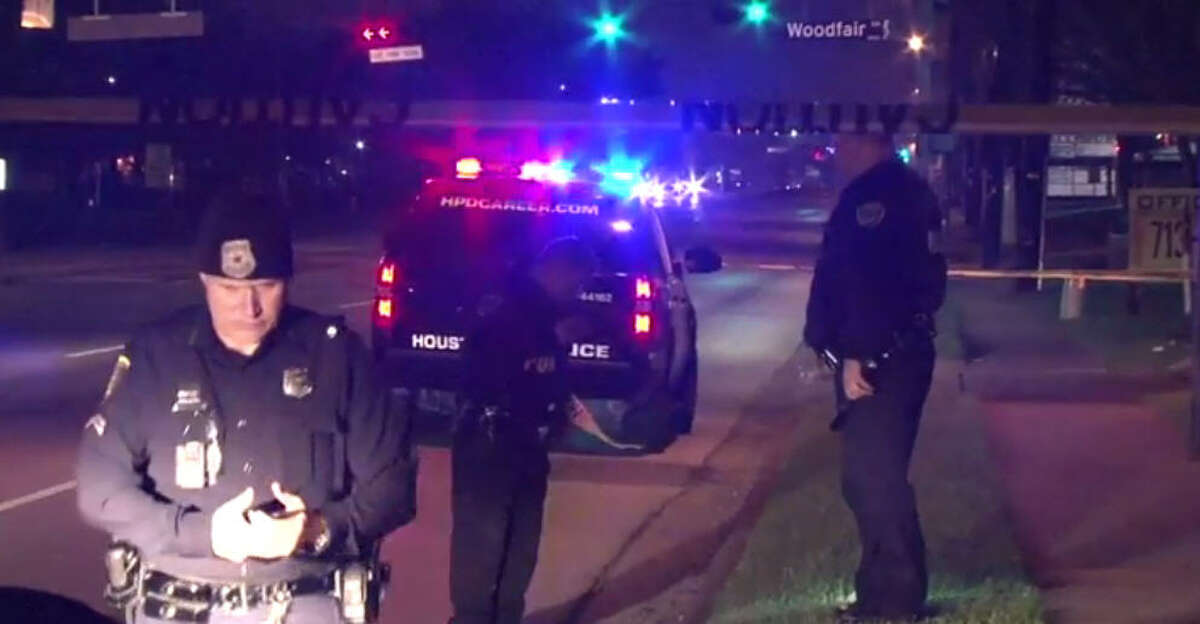 A woman was found shot in the head about 3 a.m. at 10039 Bissonnet near Forum Park in southwest Houston. (Metro Video)