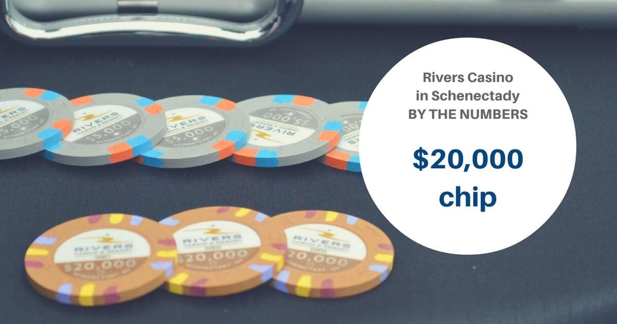 The Rivers Casino and Resort in Schenectady has a $20,000 betting chip, the highest denomination at the casino. The lowest denomination is $1.