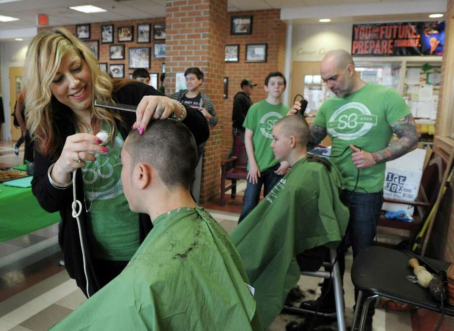 File photo of a St. Baldrick's Foundation fundraiser at Joel Barlow High School in 2015. Photo: Carol Kaliff / Carol Kaliff / The News-Times