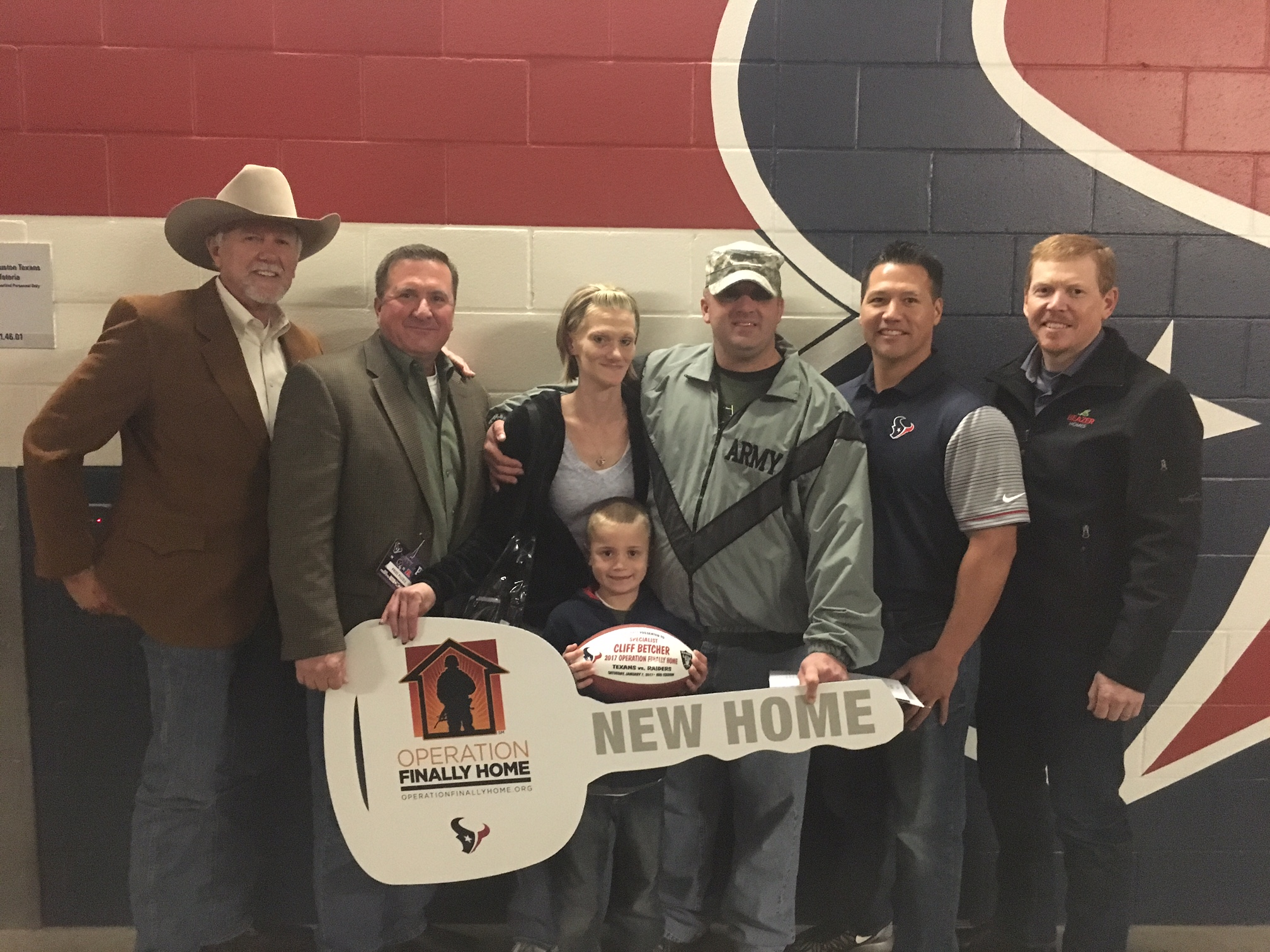 Operation finally home holds ceremony houston chronicle for Operationfinallyhome org