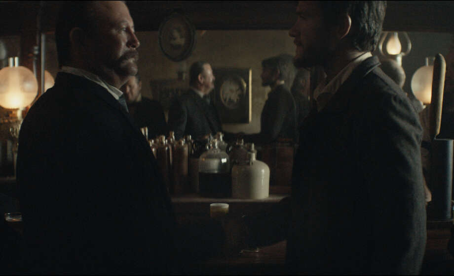 This photo provided by Budweiser shows a scene from the company's spot for Super Bowl 51, between the New England Patriots and Atlanta Falcons, Sunday, Feb. 5, 2017. The scene depicts when Anheuser-Busch co-founder Adolphus Busch, right, after traveling by boat from Germany, met fellow immigrant Eberhard Anheuser.  Photo: AP / Budweiser