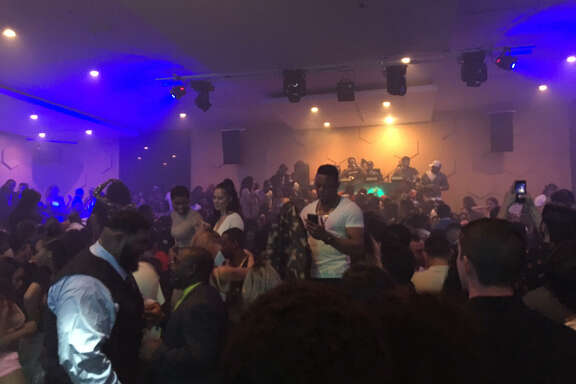 """Crowd at The Ballet, a """"dance experience"""" by Drake at Mercy Nightclub, on Thursday, Feb. 2, with featured guests Migos and Travis Scott."""