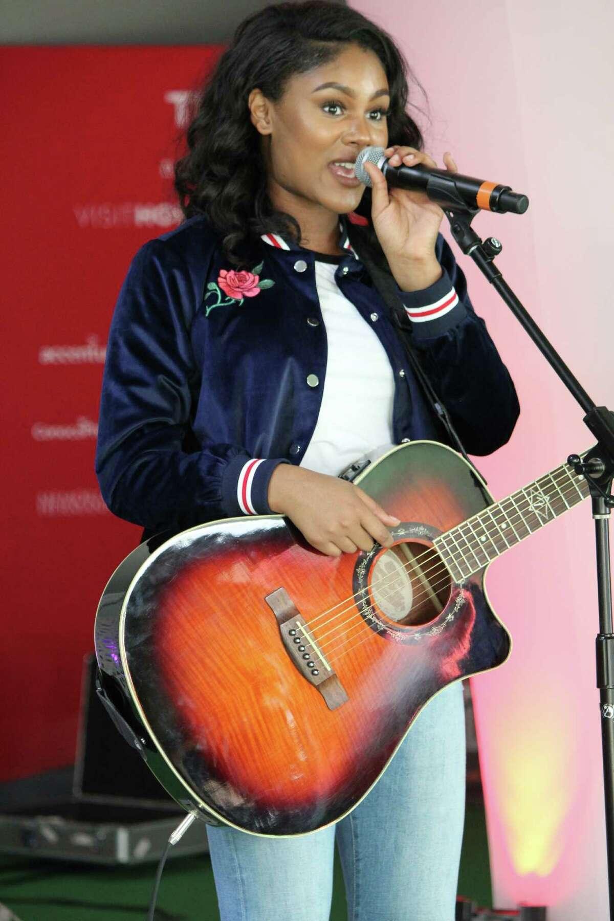 Atascocita High School Student, Vin Zeal, performing at Super Bowl Live.