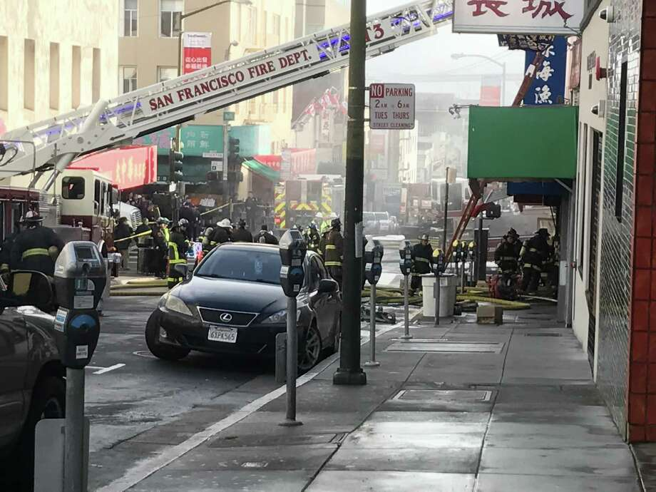 Firefighters battled a blaze in San Francisco's Chinatown on Friday. Photo: Filipa A. Ioannou / The Chronicle / /
