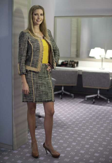 Ivanka Trump models an outfit following a 2015 interview to promote her clothing line in Toronto. In January, the first daughter's fashion line ranked No. 550 based on the number of orders from Lyst, the biggest fashion e-commerce website in the world, according to Forbes. But sales of Trump's products skyrocketed in early February, making her Lyst's 11th most popular brand. Photo: Canadian Press /File Photo / The Canadian Press