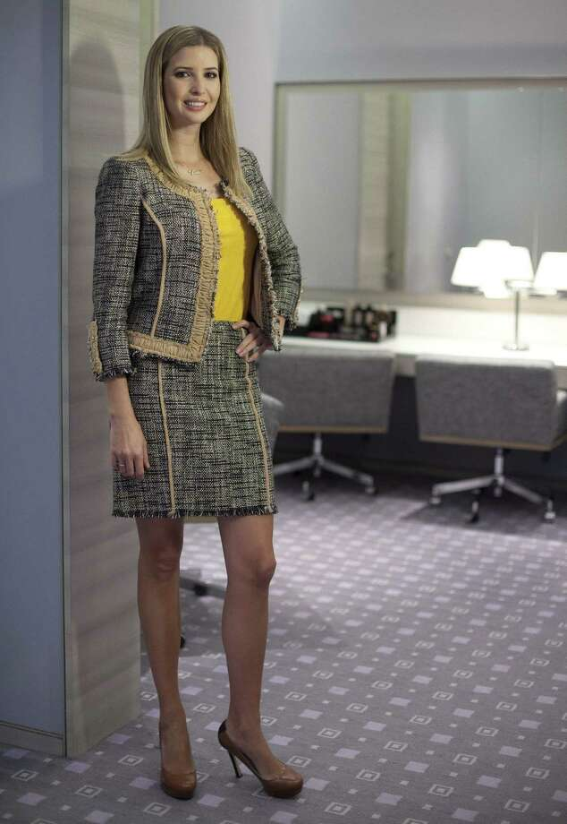 Ivanka Trump models an outfit following a 2015 interview to promote her clothing line in Toronto. Photo: Canadian Press /File Photo / The Canadian Press