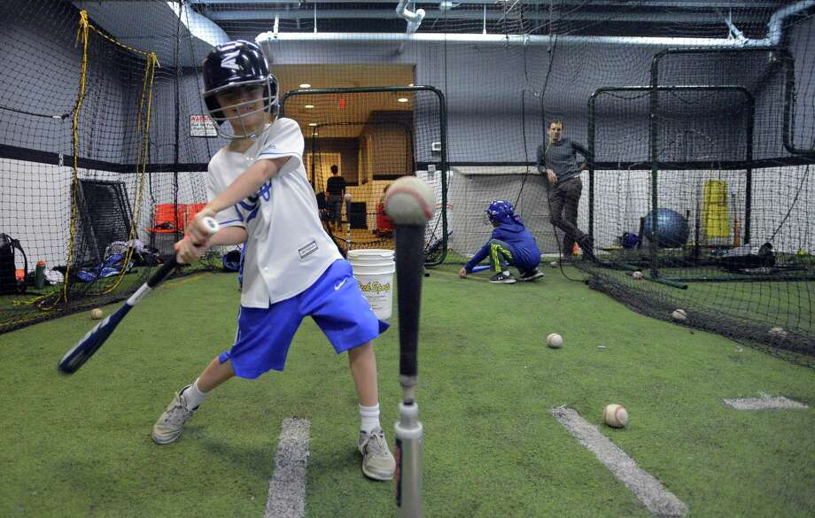 Henry Brown of Darien participates in a clinic at Bobby Valentine's Sports Academy in Stamford on Jan. 19. Photo: Matthew Brown / Hearst Connecticut Media / Stamford Advocate