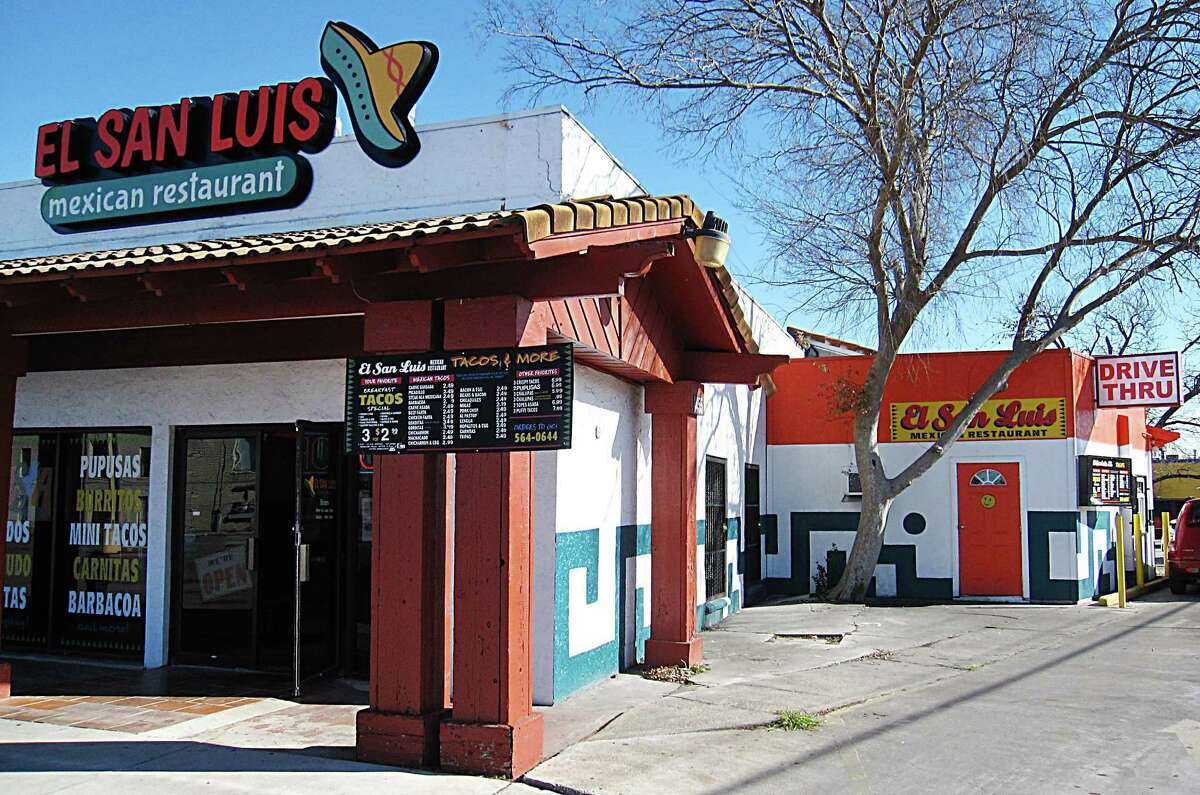 El San Luis Mexican Restaurant on Walzem Road has both a dining room and a drive-through.