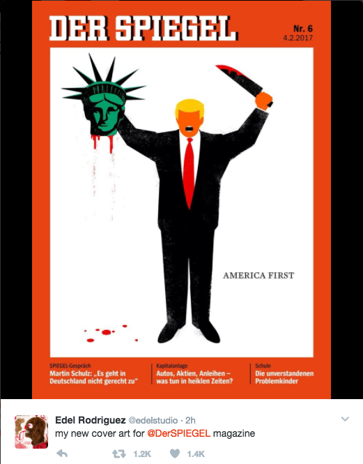 Trump came for the media and they came back with magazine for Spiegel crime