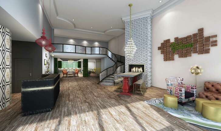 Gone from the renovated Hotel Ylem is the old corporate franchise look, as an artist's rendering of the lobby shows.