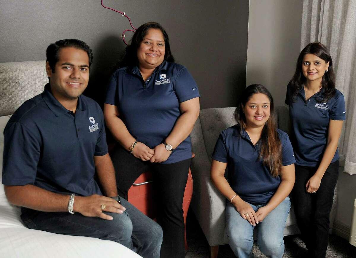 Siblings Sumit, from left, Amisha, Shital and Manisha Dalwadi run the business side at Hotel Ylem.