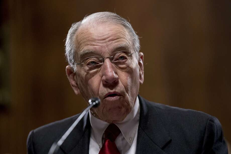 Sen. Charles Grassley, R-Iowa, chairman of the Senate Judiciary Committee, has emerged as a champion of whistle-blowers, especially those who work in the federal government. Photo: Andrew Harnik, Associated Press