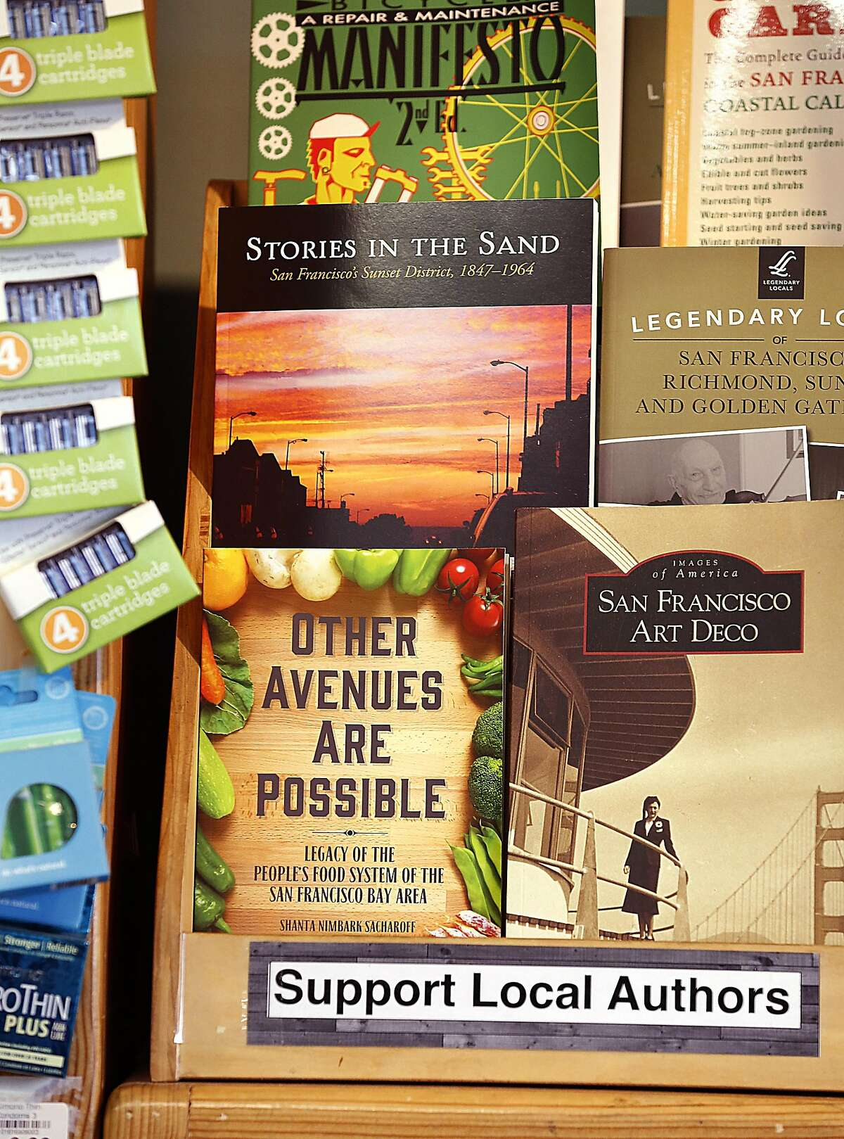 Shanta Nimbark Sacharoff has just written 'Other Avenues are Possible', a history book about the network of food co-ops, buying clubs, and businesses in the 1970s on Thursday, February 2, 2017, in San Francisco, Calif.