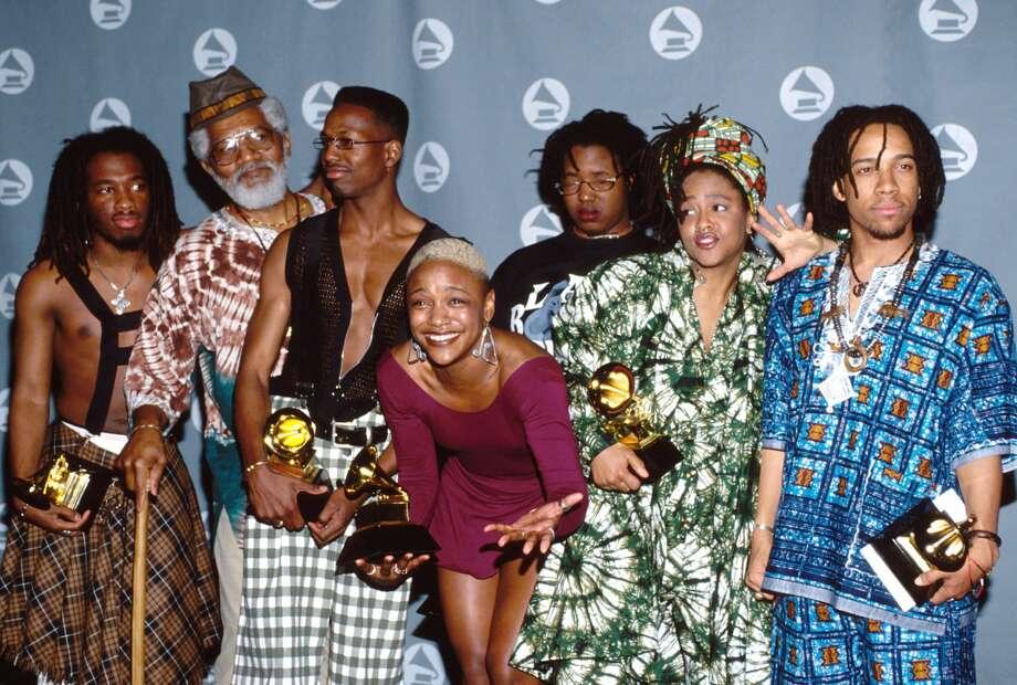 Year:1992, 35th Annual Grammy AwardsBest New Artist: Arrested Development (Baba Oje, Rasa Don, Headliner, Montsho Eshe, Rasa Don, Speech) Photo: Kevin.Mazur/INACTIVE/WireImage