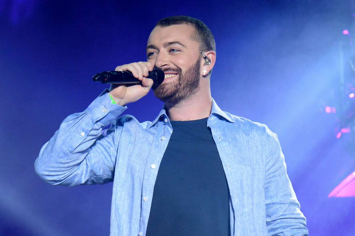 INDIO, CA - APRIL 16: Singer Sam Smith perform onstage with Disclosure during day 2 of the 2016 Coachella Valley Music & Arts Festival Weekend 1 at the Empire Polo Club on April 16, 2016 in Indio, California. (Photo by Kevin Mazur/Getty Images for Coachella)