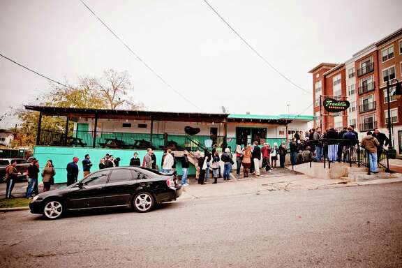The line outside Franklin Barbecue in Austin, Texas