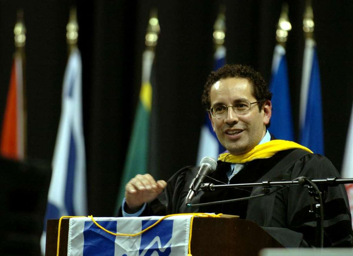 Housatonic Community College held its 43rd Commencement ceremony at the Arena at Harbor Yard in downtown Bridgeport, Conn. on Thursday May 27, 2010. Here, Juan Sepulveda, J. D. and Director of the White House Initiative on Educational Excellence for Hispanic Americans, gives the Commencement Address.