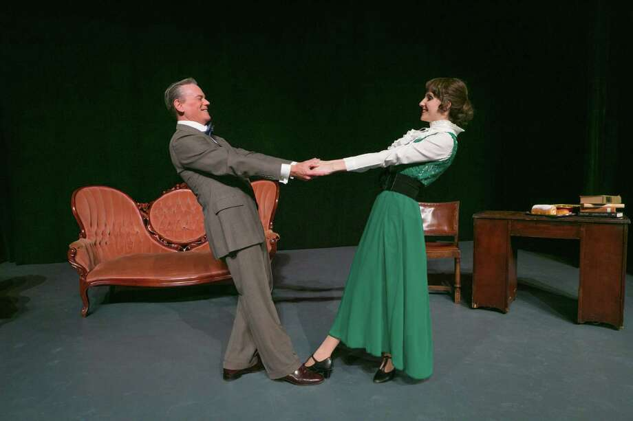 """Michael Martin plays Professor Henry Higgins and Sara Preisler plays Eliza Doolittle in Stage Right's """"My Fair Lady."""" The show opens Feb. 10 at the Crighton Theatre and continues through Feb. 26. Photo: Michael Pittman / Michael Pittman all rights reserved"""