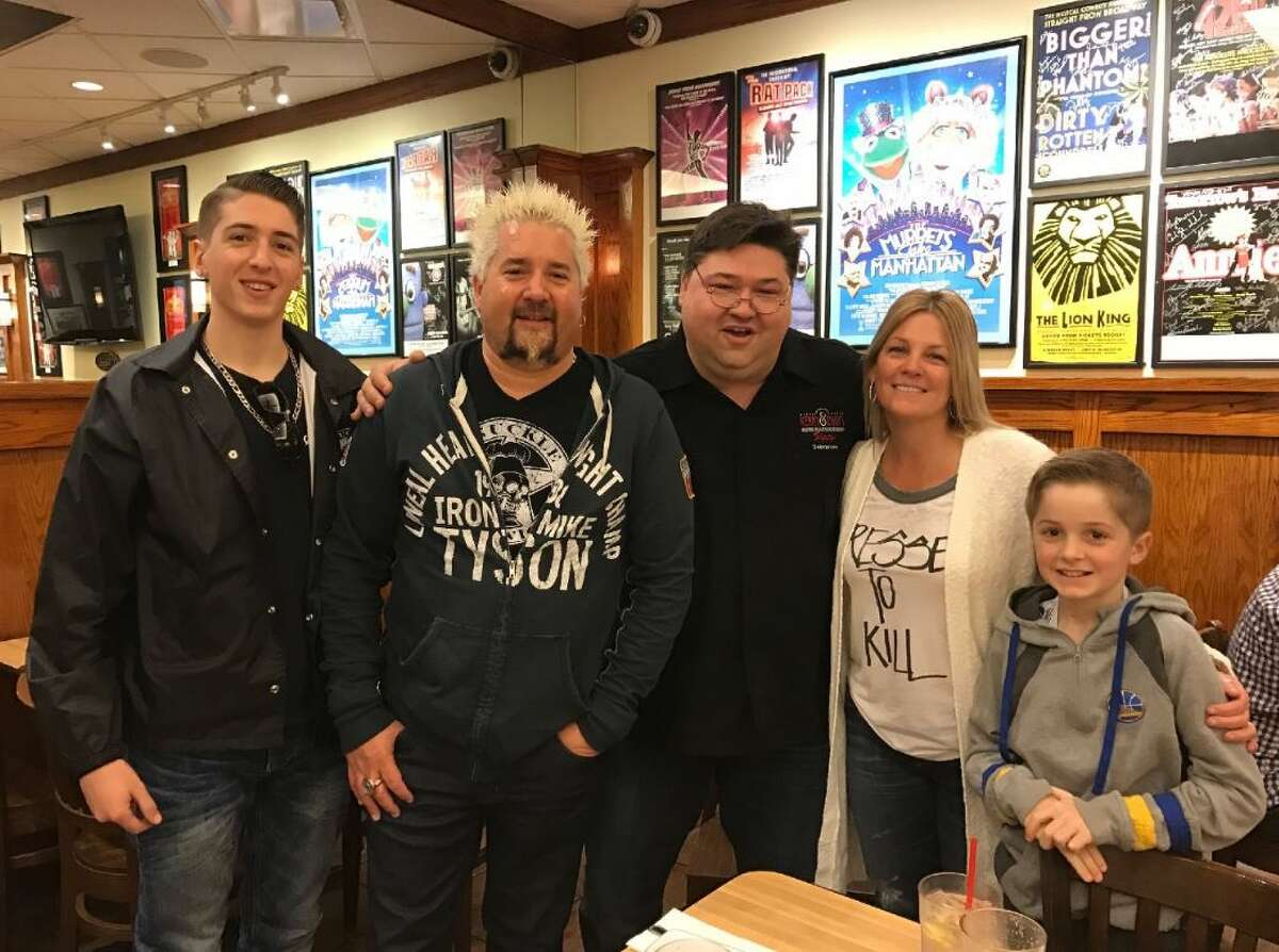 Celebrity chef and TV show host Guy Fieri grabbed lunch with his family at Kenny & Ziggy's Friday. >>Click to see other Houston celebrity sightings in Houston this Super Bowl weekend.