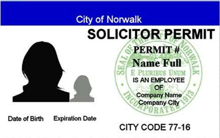 Norwalk solicitor's permit Photo: Contributed Image
