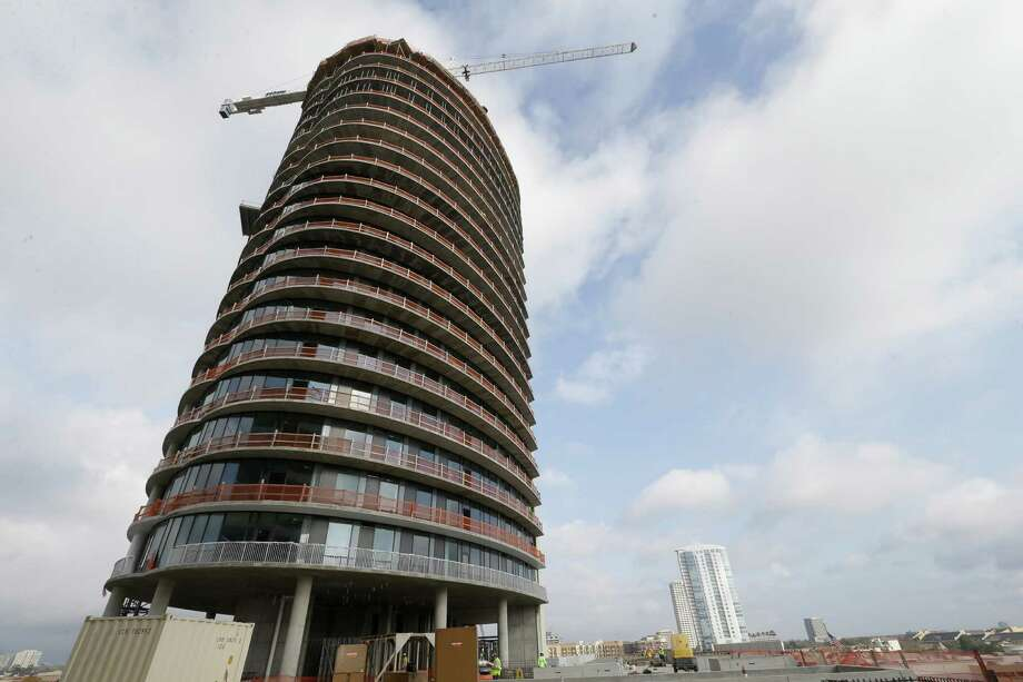 "Thor Equities developer Jack Bousquet says the cost of the elliptic form was minor. ""Everybody has a view of lights at night,"" he says of those who will live in the tower. Photo: Melissa Phillip, Staff / © 2017 Houston Chronicle"