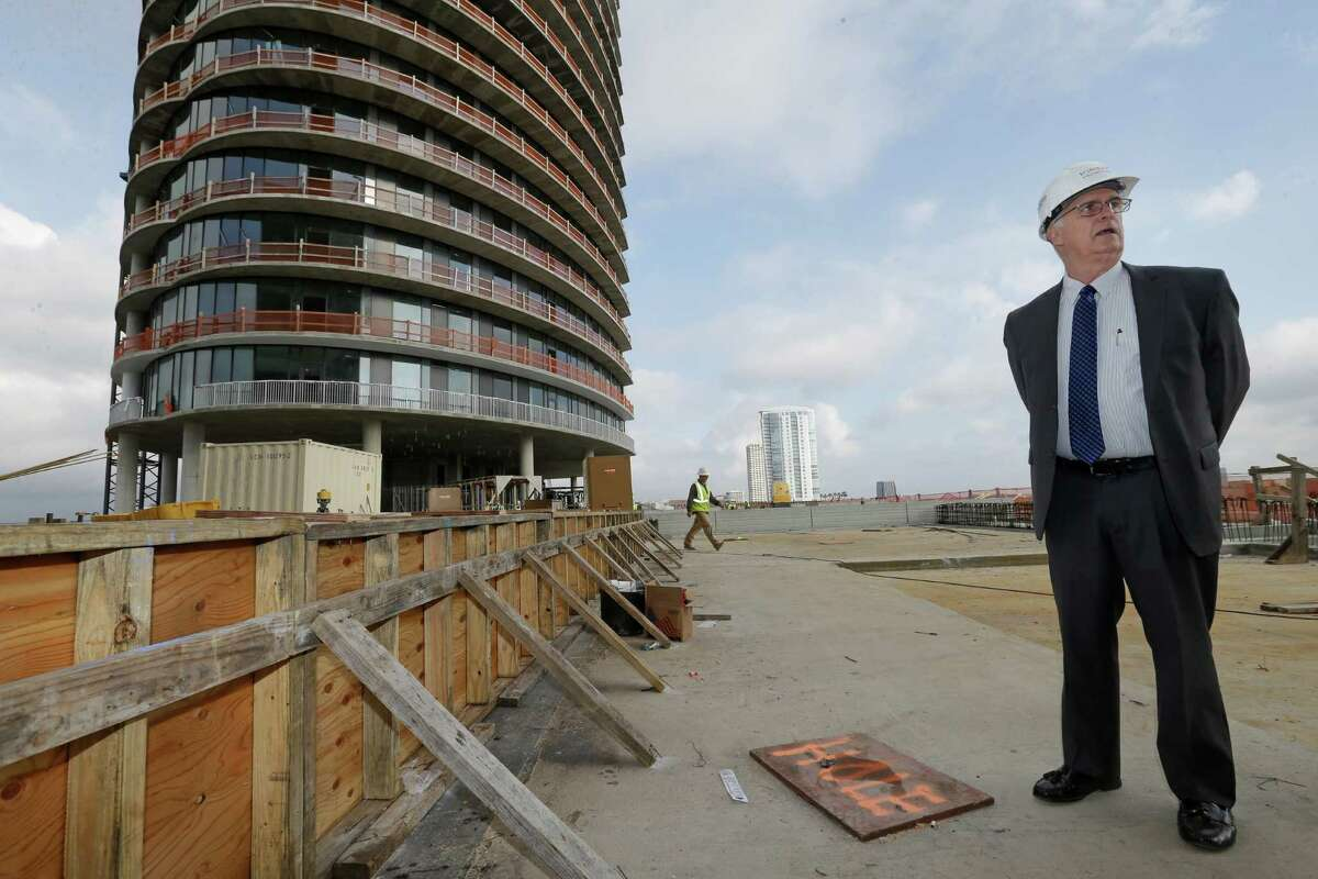Jack Bousquet, Thor Equities developer, talks about the Kirby Collection, 3200 Kirby Drive, Thursday, Feb. 2, 2017, in Houston. The project includes a 25-story luxury residential tower and 13-story Class-A office building. ( Melissa Phillip / Houston Chronicle )