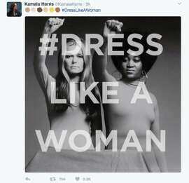 After news broke out that President Trump wants his female staffers to 'dress like women,' many woman tweeted photos of what real women dress like at work. The photos included images of women in hijabs, scrubs, hockey uniforms, spacesuits, and judge robes. 