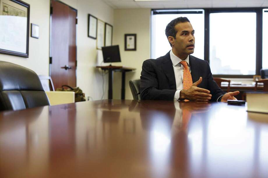 Texas Land Commisioner, George P. Bush, speaking in his office in Austin at 1700 Congress Ave. on Jan. 27, 2017. Photo: Spencer Selvidge For The San Antonio Express-News / Spencer Selvidge For The San Antonio Express-News / Copyright 2017, Spencer Selvidge for the San Antonio Express-News.