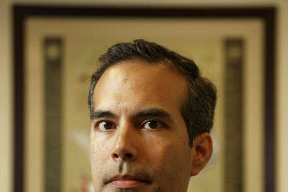 Texas Land Commisioner, George P. Bush, posing for a portrait in his office in Austin at 1700 Congress Ave. on Jan. 27, 2017.