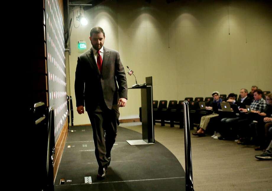 Niners CEO Jed York is getting good reviews for hiring John Lynch as general manager. Photo: Lea Suzuki, The Chronicle