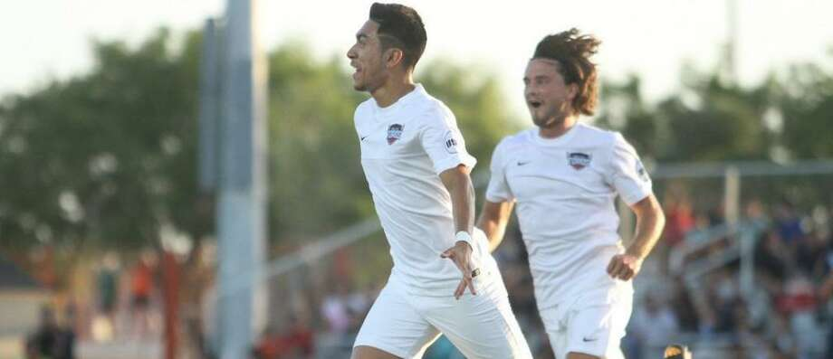 Memo Rodriguez scored a brace for Rio Grande Valley FC in a 3-1 victory over Colorado Switchbacks FC. Photo: RGV