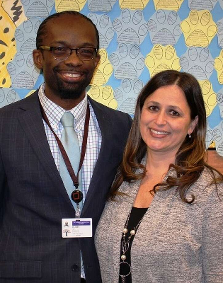 Montessori Magnet School Principal Malik Jones and West Hill Middle School Principal Kandie Antonetti will share the leadership responsibilities at 50 North Lark when it opens this fall.