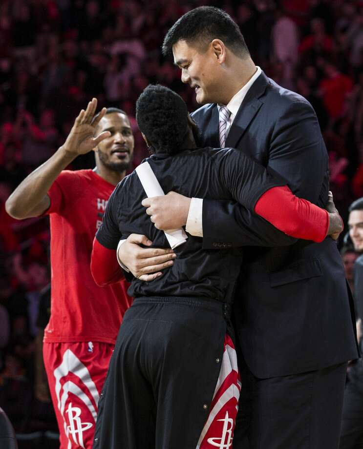 Yao Ming's No. 11 Retired By Rockets