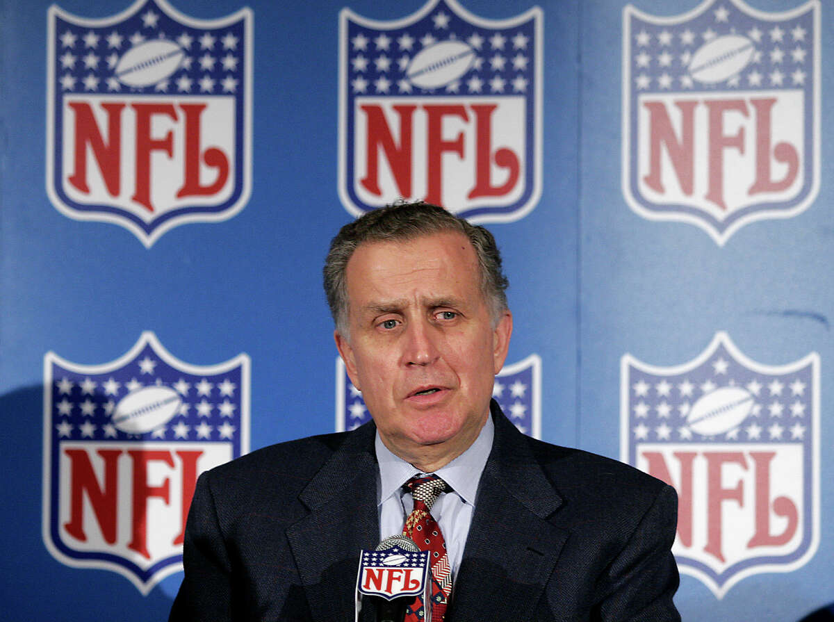 Former NFL Commissioner Paul Tagliabue has made the Pro Football Hall of Fame in his fifth attempt.