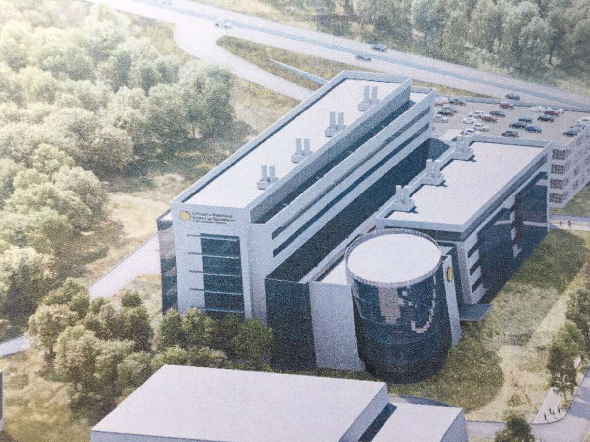 A rendering of the proposed Department of Health complex at the SUNY Poly campus in Albany.