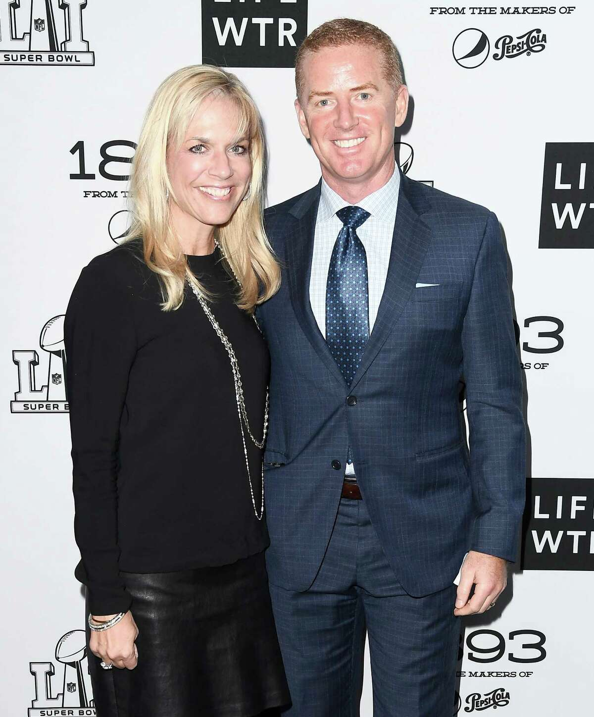 Jason Garrett and his wife Brill Garret tattend LIFEWTR: Art After Dark, including 1893, at Club Nomadic during Super Bowl LI Weekend on February 3, 2017 in Houston, Texas.