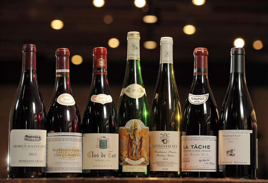 A selection of French wines served at the Great China Restaurant in Berkeley, Calif., on Tuesday, January 31, 2017. The Great China Restaurant has been around for generation, and James Yu, the current owner, has a passion for wine and transformed the restaurant into one of the Bay Area's greatest hidden gems for wine -- especially wine from his favorite region, Burgundy.  A fire destroyed the restaurant a few years ago, and the magnificent cellar that Yu had taken years to compile was suddenly gone. It's taken Yu a while to recreate the wine cellar, but now, he's finally ready to debut the new list -- and it's even better than it was before. Photo: Carlos Avila Gonzalez, The Chronicle