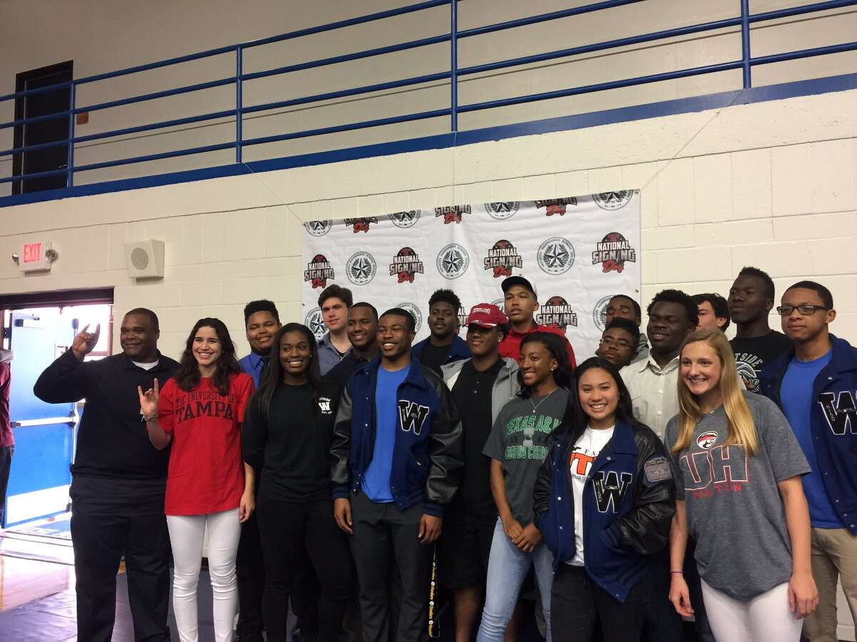 Westside student-athletes celebrate National Signing Day, Feb. 1 at The Mark Anthony Wilkins Pavilion. The Wolves had 20 athletes sign in six sports.