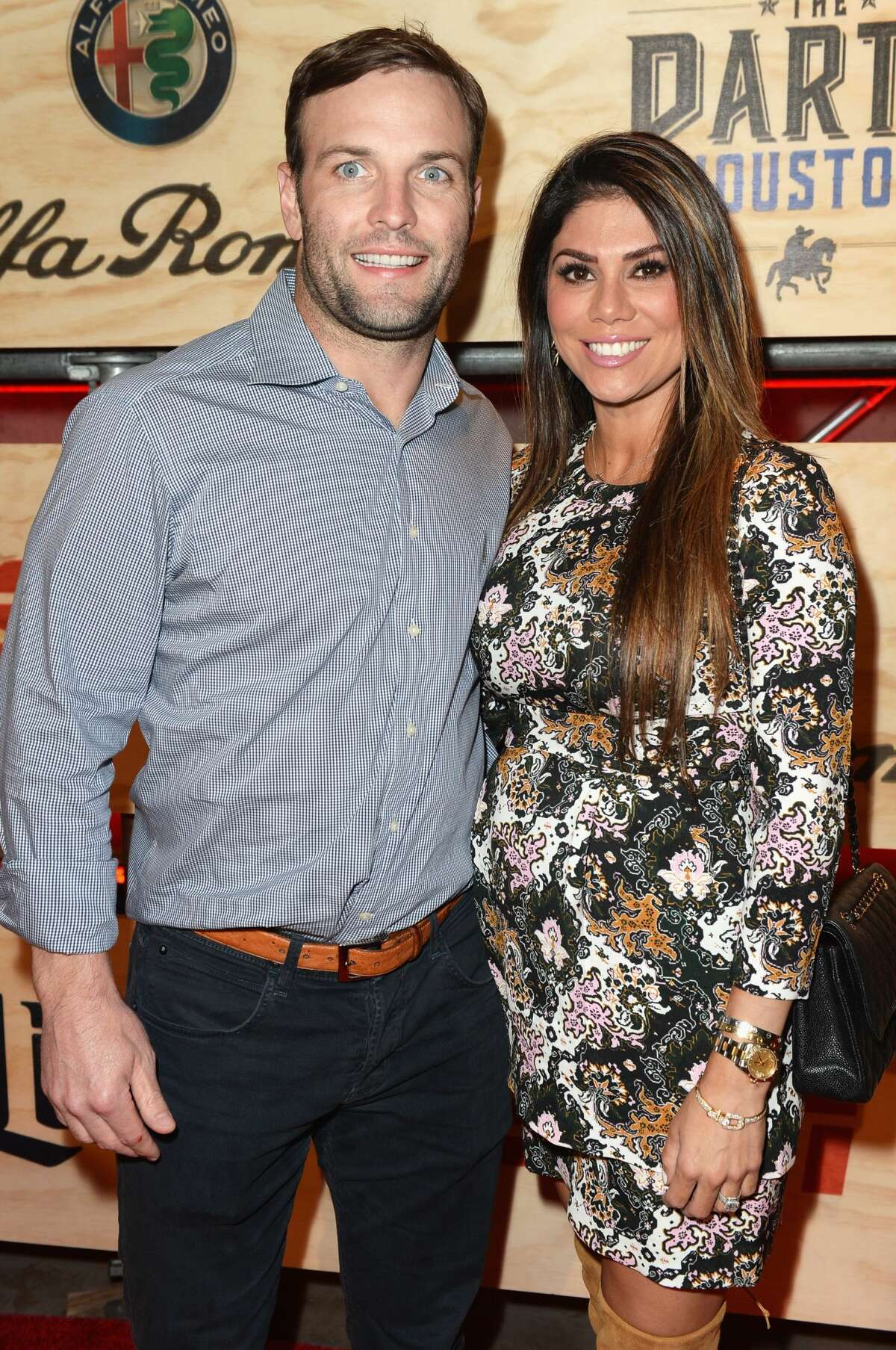 HOUSTON, TX - FEBRUARY 03: NFL player Wes Welker (L) and Anna Burns attend the 13th Annual ESPN The Party on February 3, 2017 in Houston, Texas. (Photo by Gustavo Caballero/Getty Images for ESPN)