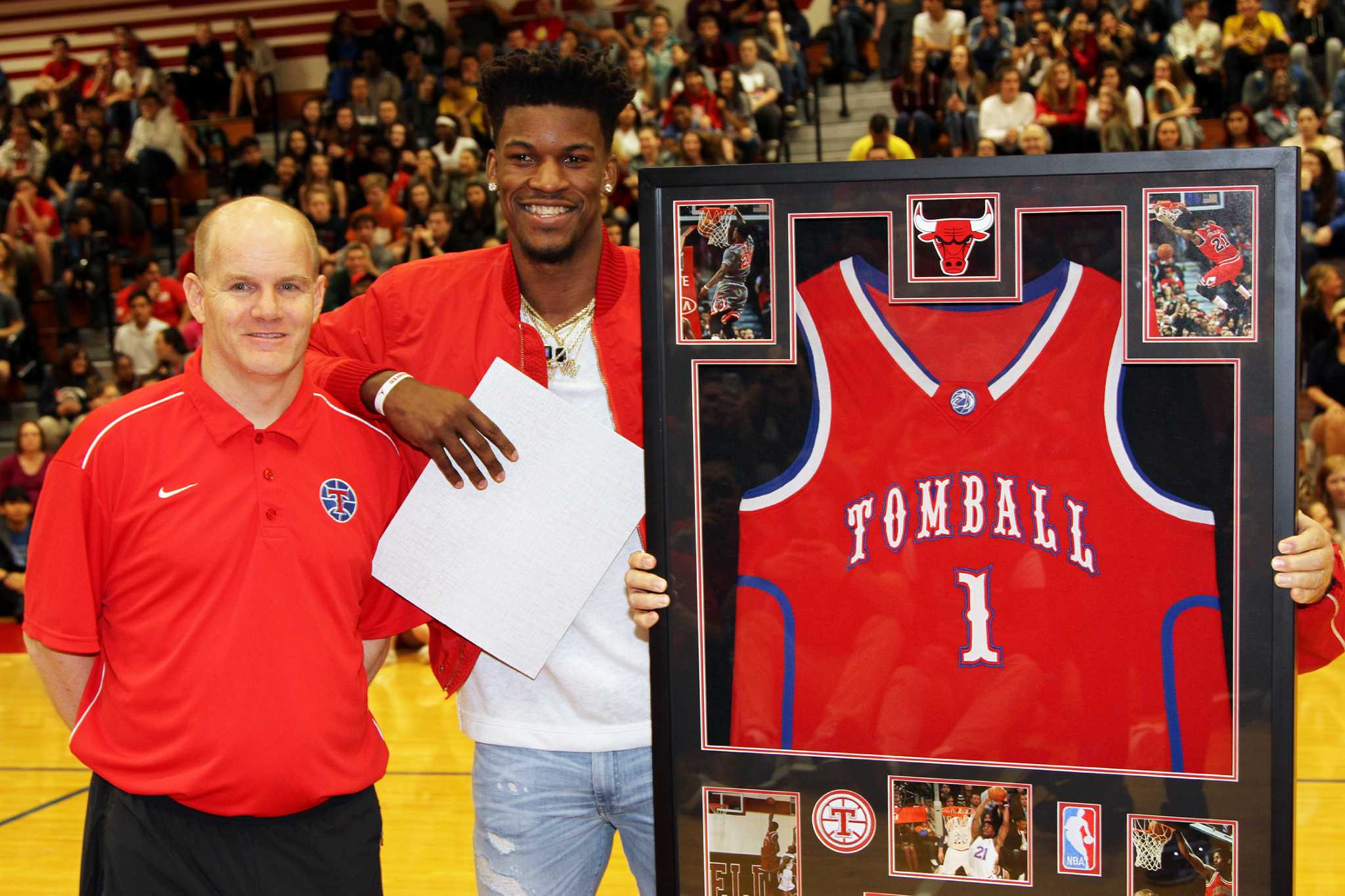Tomball High School retires Jimmy Butler's No  1 jersey