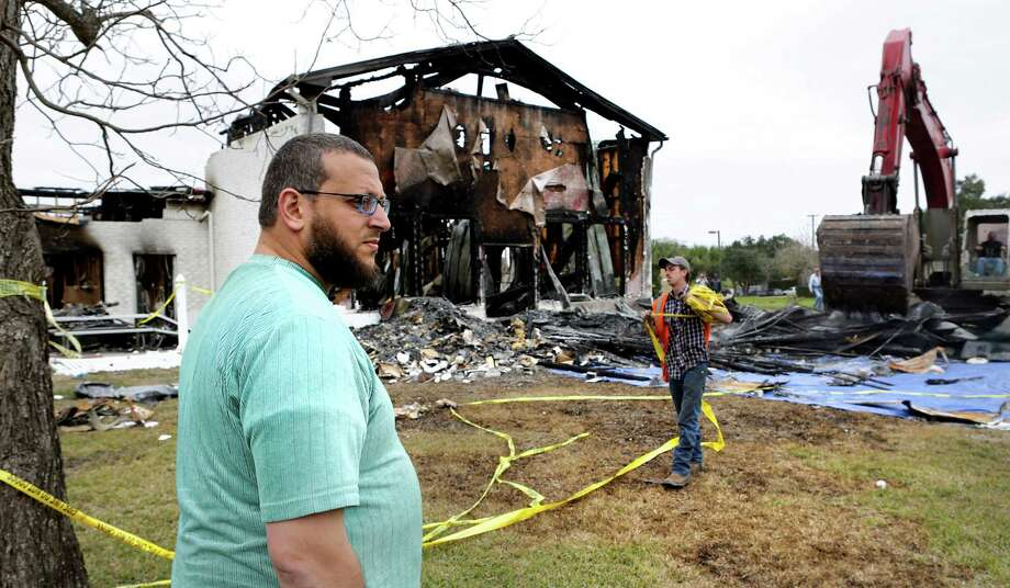 Federal prosecutors recently charged Marq Vincent Perez, 25, for allegedly burning down a Mosque in Victoria, Texas in January.Click through to see aftermath photos of the Victoria Mosque burning. Photo: Bob Owen, San Antonio Express-News / ©2017 San Antonio Express-News