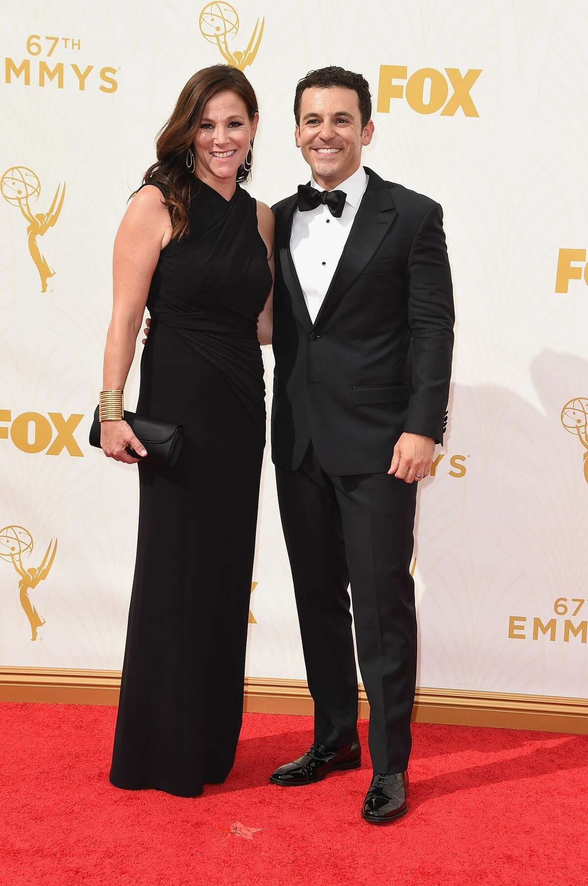 Now: Fred Savage (right) is still acting, but he has since added directing and producing to his resume. His most recent project was with Rob Lowe on The Grinder. Here he is with his wife Jennifer Lynn Stone attending the 67th Annual Primetime Emmy Awards at Microsoft Theater in 2015.