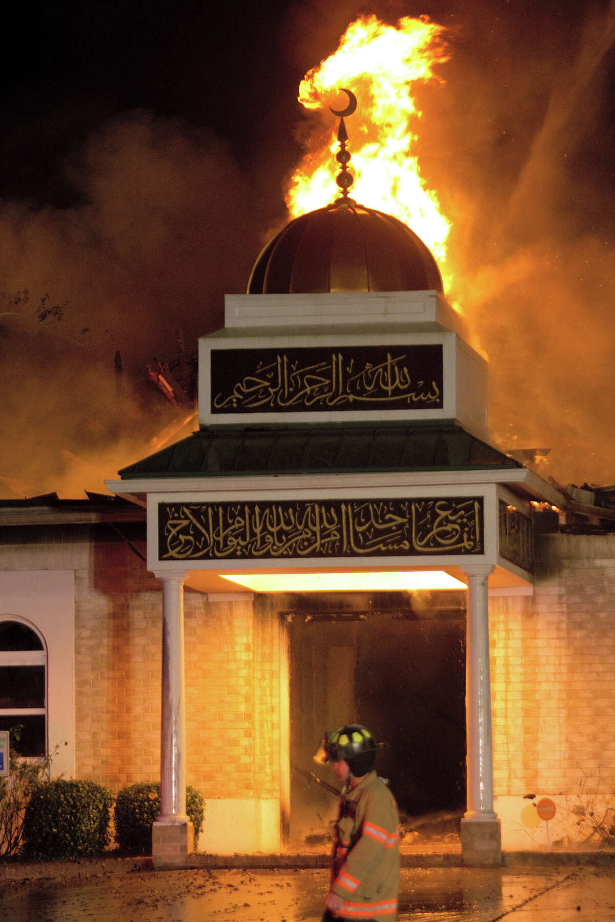 Fire destroyed the Islamic Center of Victoria on Jan. 28. Within a few days, the community raised more than $1 million to rebuild the mosque.