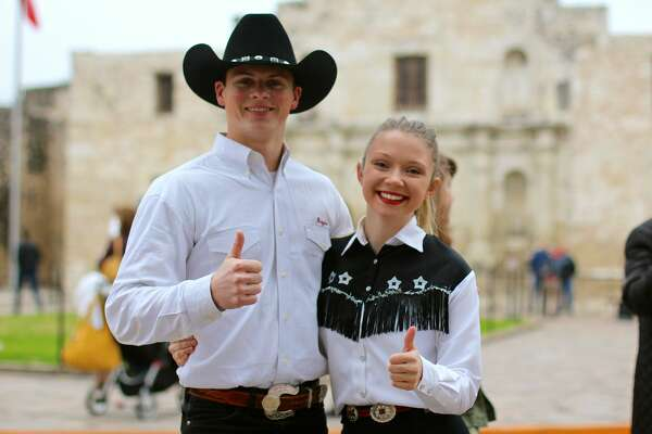 One of the San Antonio Stock Show & Rodeo's fan favorite traditions, the Western Heritage Parade & Cattle Drive, saw a heard of Texas longhorns running through streets to the cheers those who packed downtown Saturday, Feb. 4, 2017.