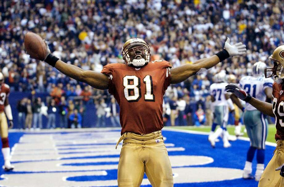Terrell Owens, a former standout wide receiver for the San Francisco 49ers, was elected to the Pro Football Hall of Fame on his third try. Photo: EDWARD A. ORNELAS, SAN ANTONIO EXPRESS-NEWS
