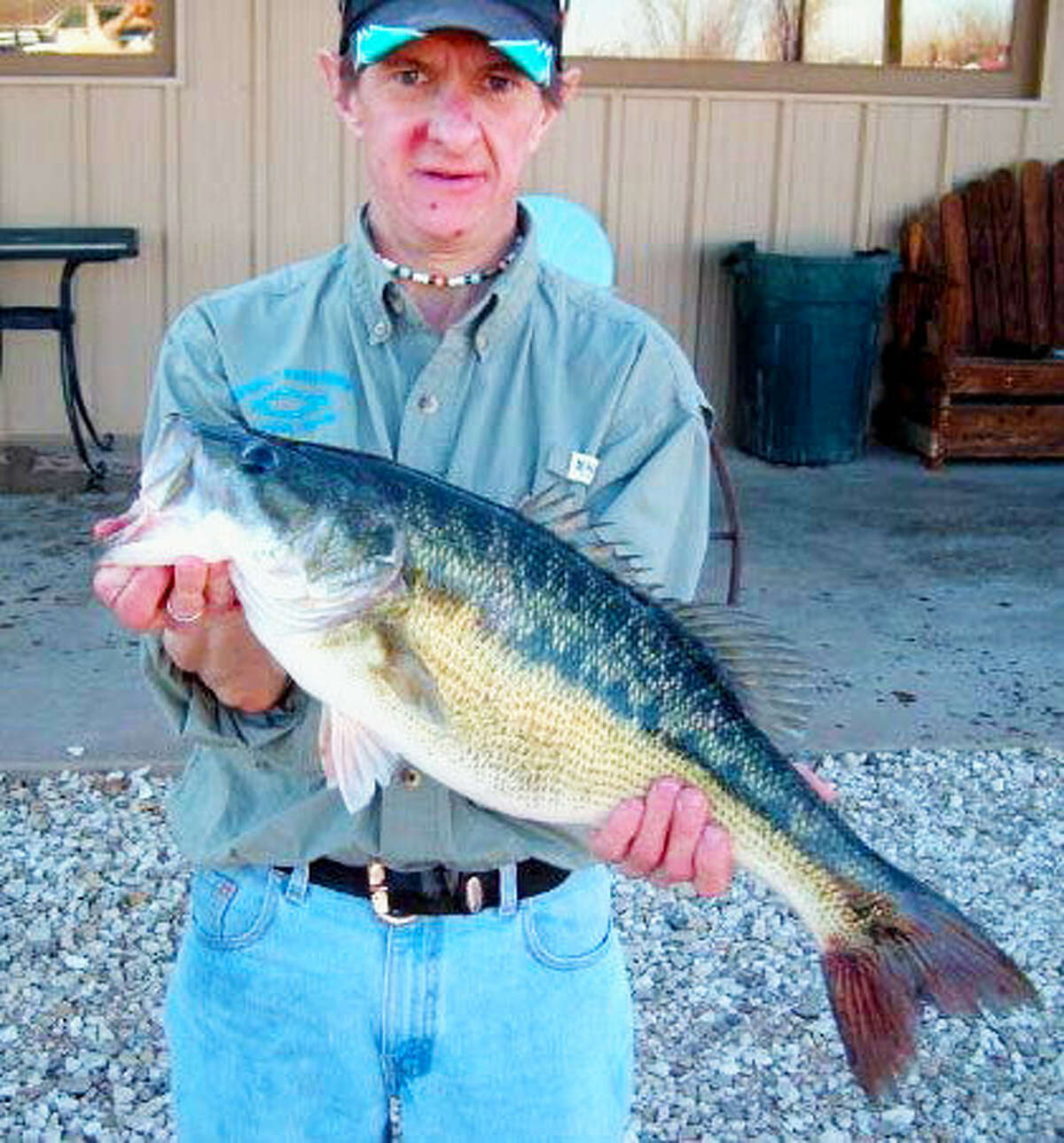 Where: Lake Alan Henry   Fish: Alabama Bass Weight: 5.98 Length: 22.25 Date Caught: Jan. 9, 2016 *Record fish not pictured*