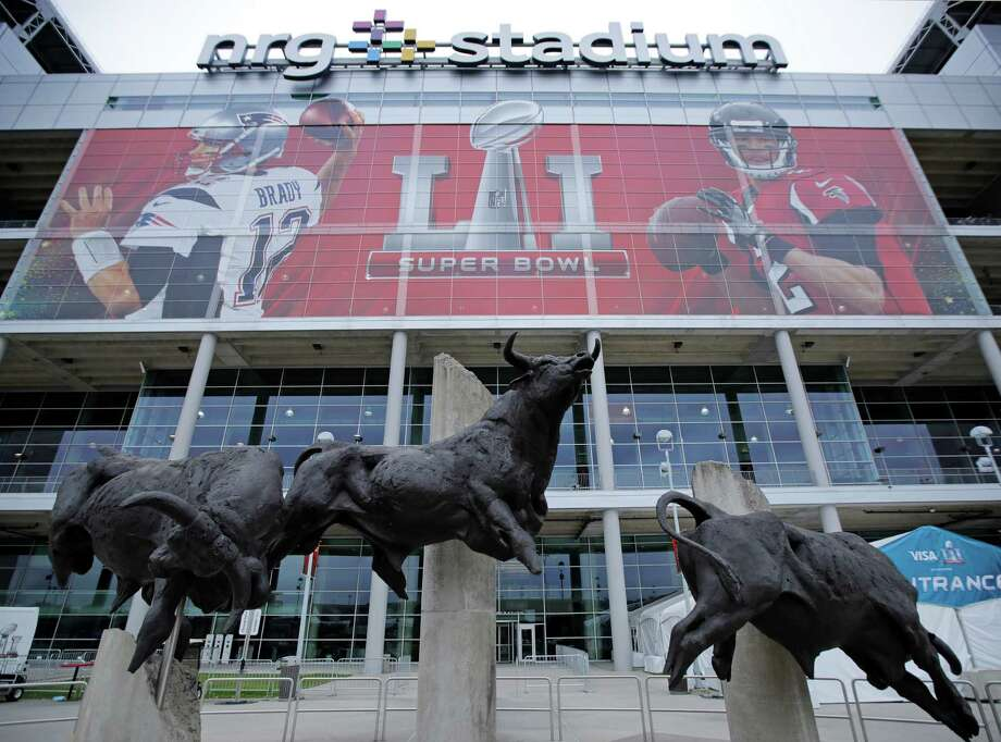 NRG Stadium, site of the NFL Super Bowl 51 football game, is pictured Saturday, Feb. 4, 2017, in Houston. The New England Patriots will face the Atlanta Falcons in the Super Bowl Sunday. Photo: Charlie Riedel, Associated Press / Copyright 2017 The Associated Press. All rights reserved.