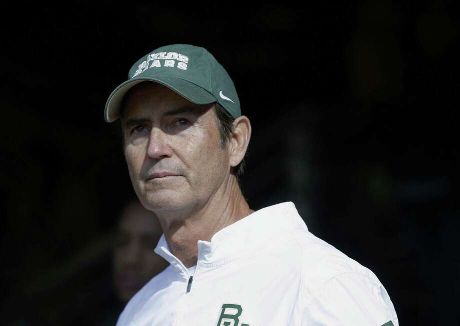 FILE - In this Dec. 5, 2015, file photo, Baylor coach Art Briles stands in the tunnel before the team's NCAA college football game against Texas in Waco, Texas. A new court filing detailed allegations that former Baylor coach Briles ignored sexual assaults by players, failed to alert university officials or discipline athletes and allowed them to continue playing. (AP Photo/LM Otero, File) Photo: LM Otero, STF / ASSOCIATED PRESS / Copyright 2017 The Associated Press. All rights reserved.