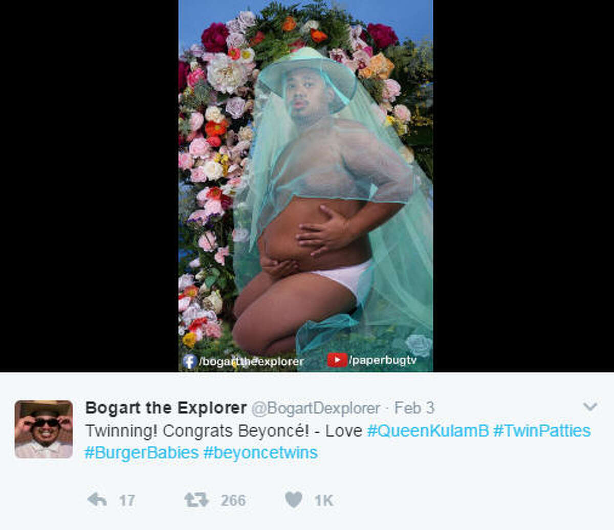 Photo: Twitter #BeyonceTwins