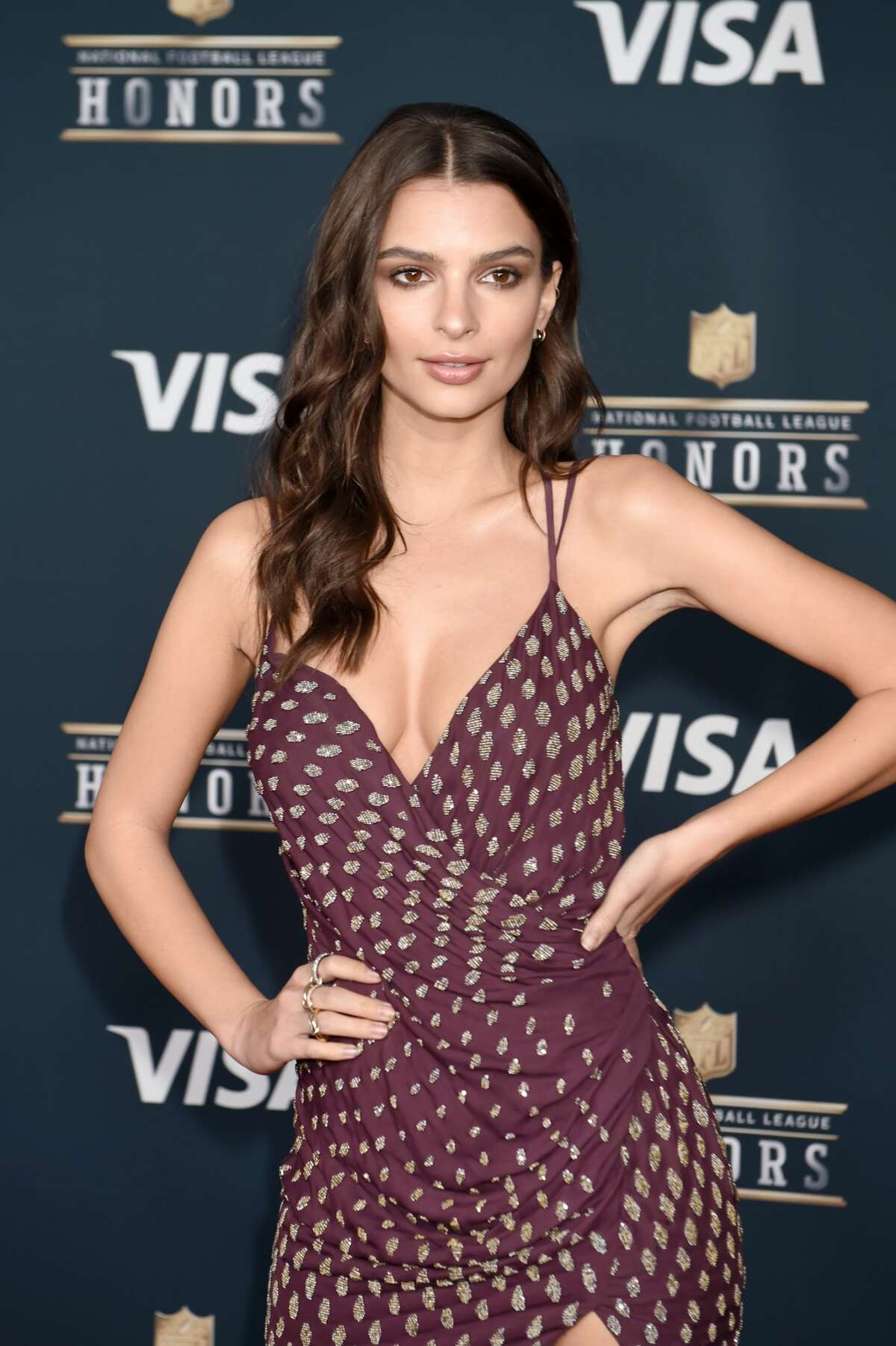 Actor Emily Ratajkowski attends 6th Annual NFL Honors at Wortham Theater Center on February 4, 2017 in Houston, Texas. (Photo by Jeff Kravitz/FilmMagic)